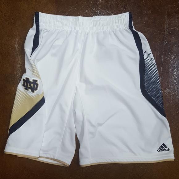 super popular 2b826 93aef adidas Other - Men s Adidas Notre Dame basketball shorts Large